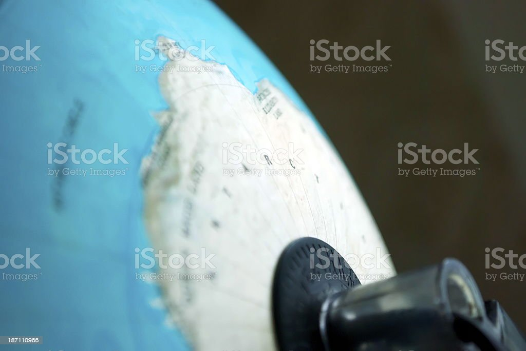Antarctica on the Globe royalty-free stock photo
