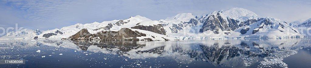 Antarctica panorama of Paradise bay royalty-free stock photo