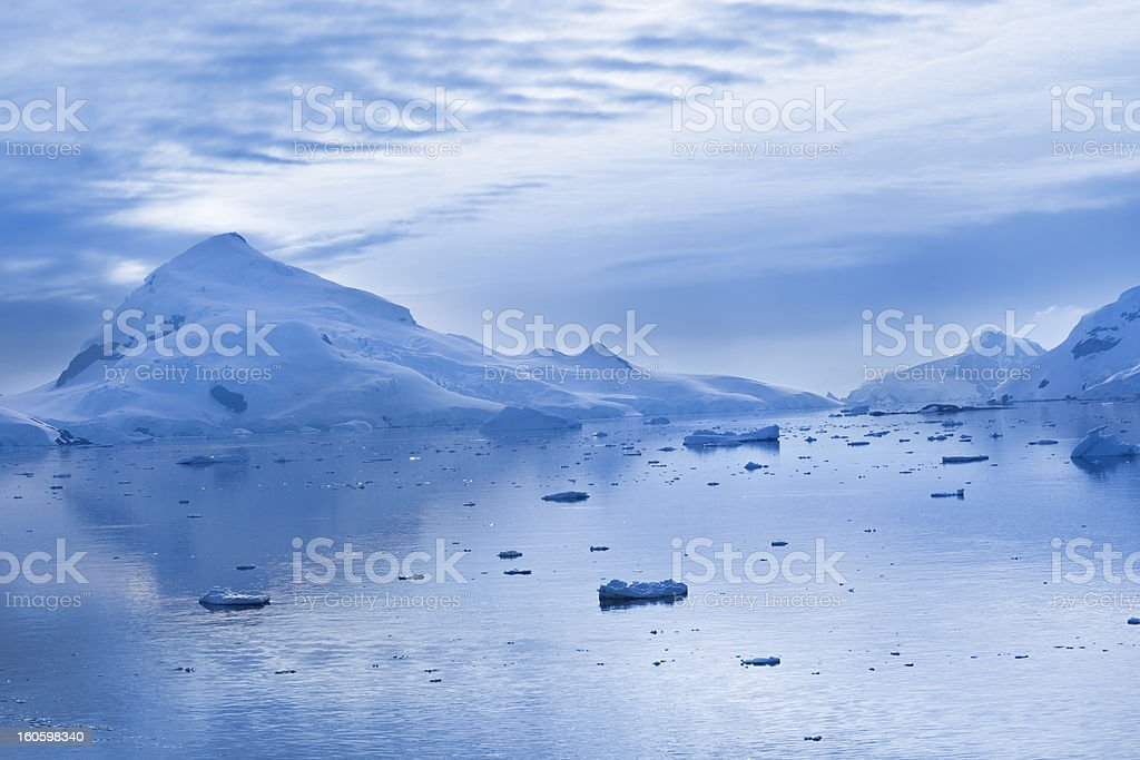 Antarctica Pardise Bay at dawn stock photo