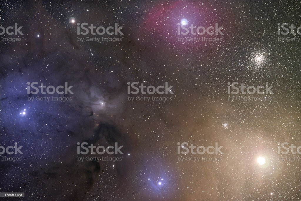 Antares and Rho Ophiucus stock photo