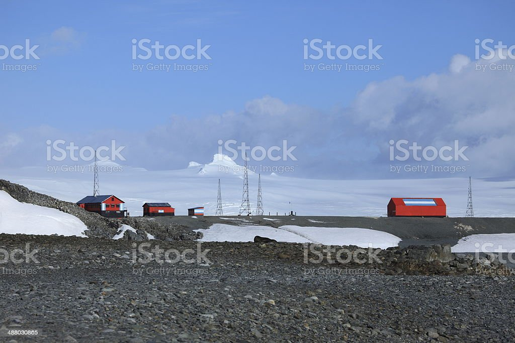 Antarktis Forschungsstation stock photo