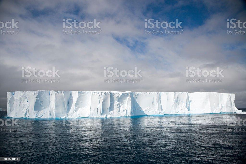 Antartica Tabular Iceberg stock photo
