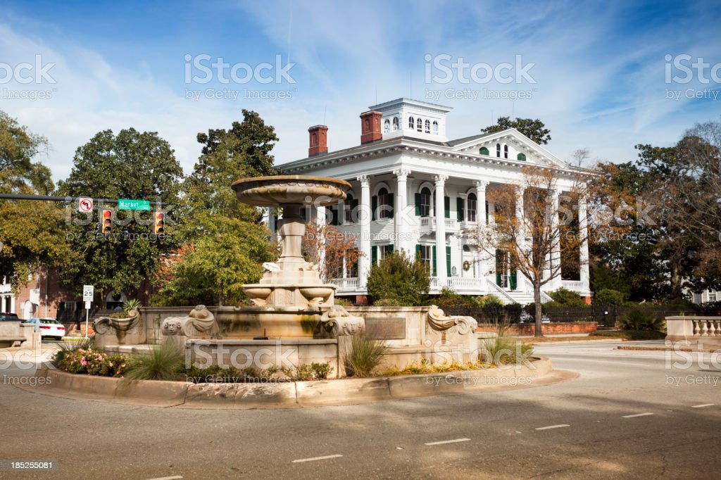Antebellum home in Wilmington North Carolina stock photo