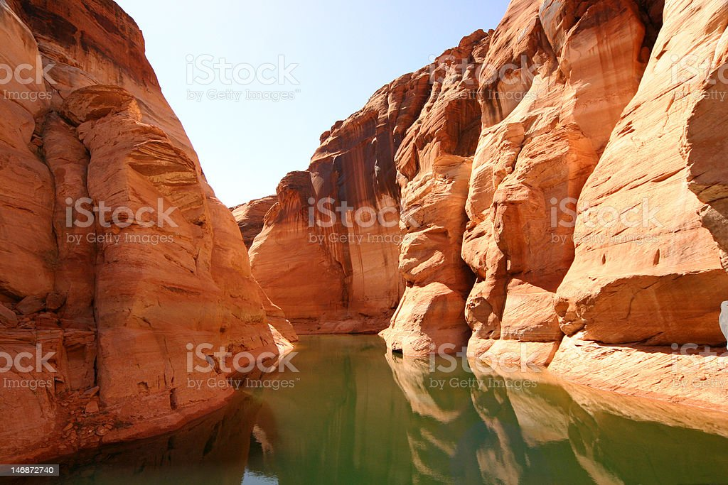 Antelope Canyon at Lake Powell, AZ stock photo