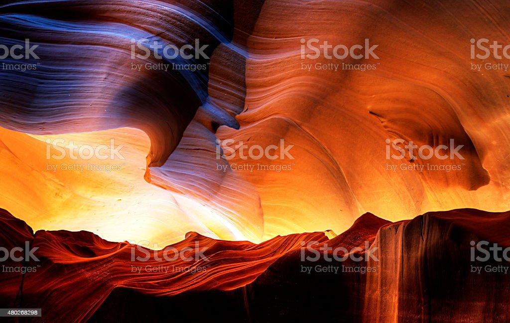 Antelope Canyon - Beautiful Sandstone Carvings stock photo