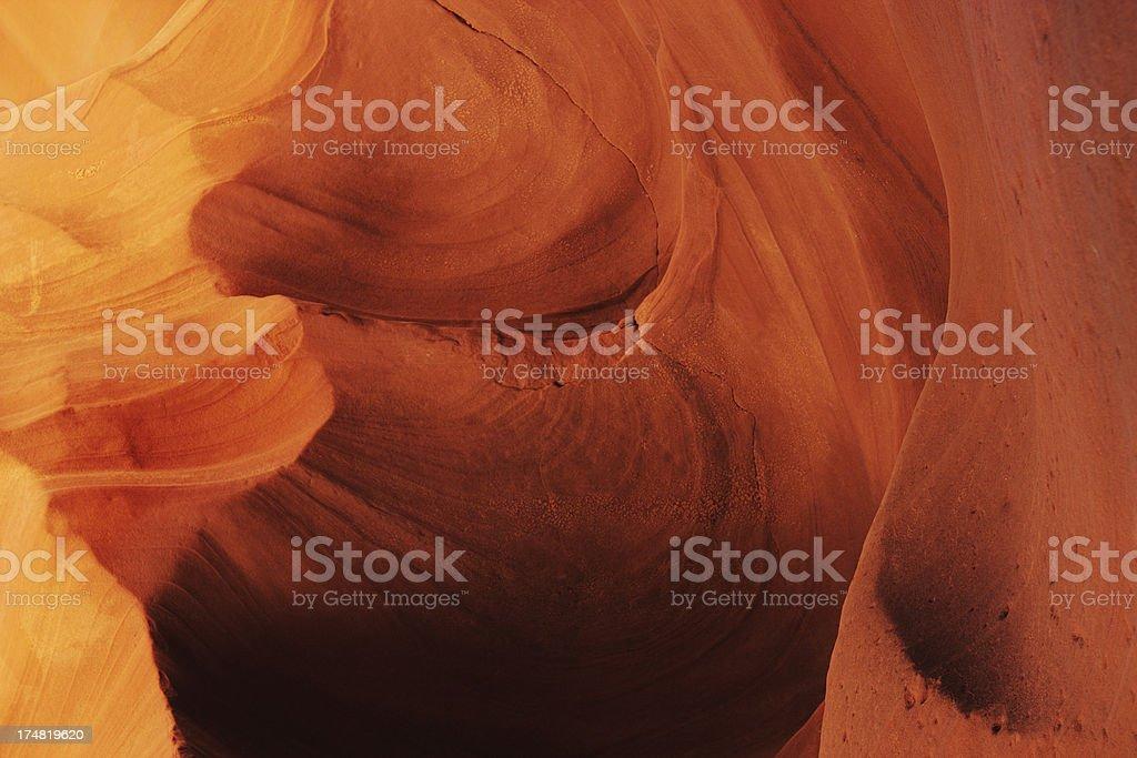 Antelope Canyon Eroded Sandstone Geology royalty-free stock photo