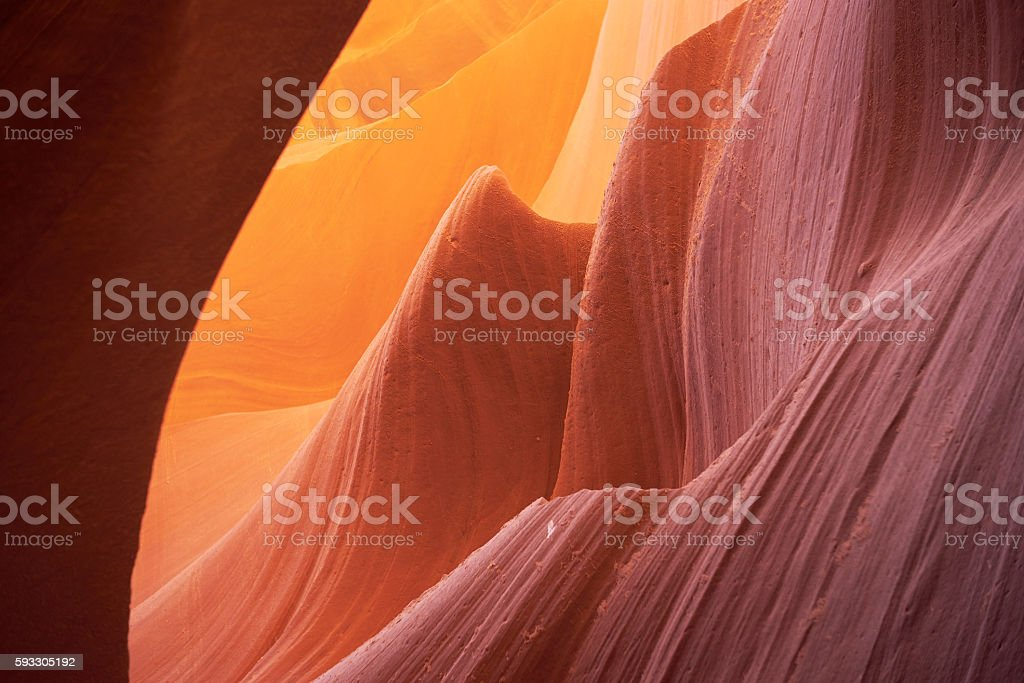Antelope Canyon in Navajo Reservation near Page, USA stock photo
