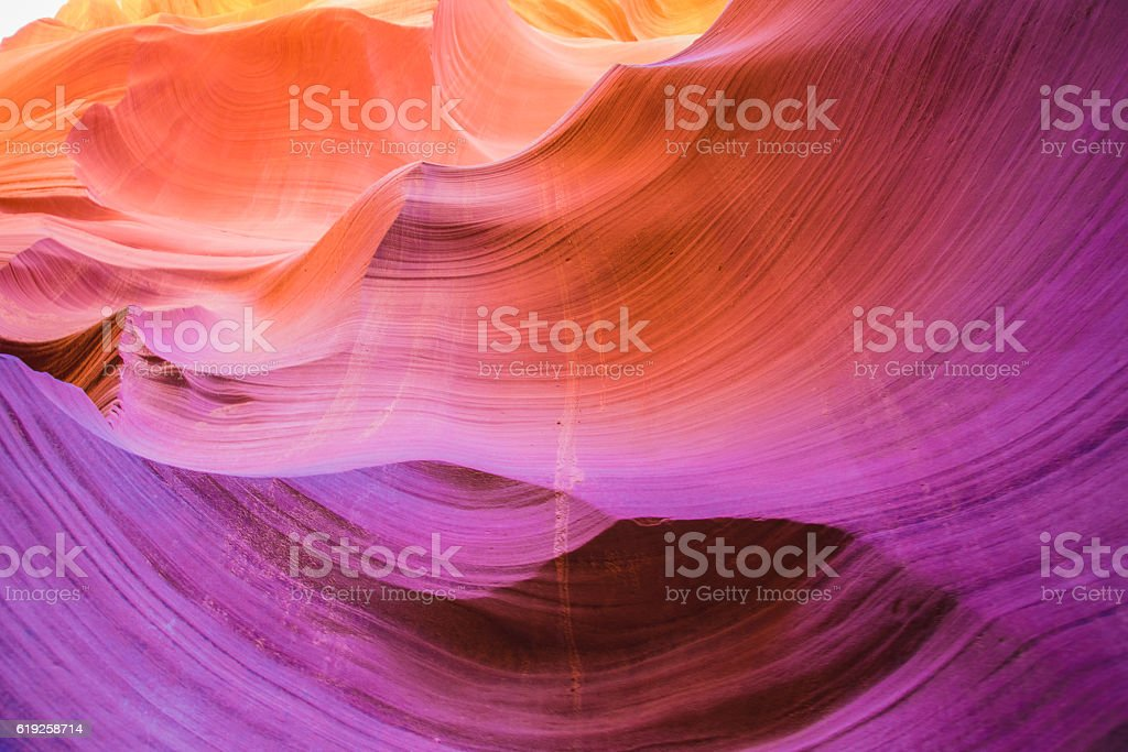 Antelope Canyon in the Navajo Reservation near Page, Arizona USA stock photo