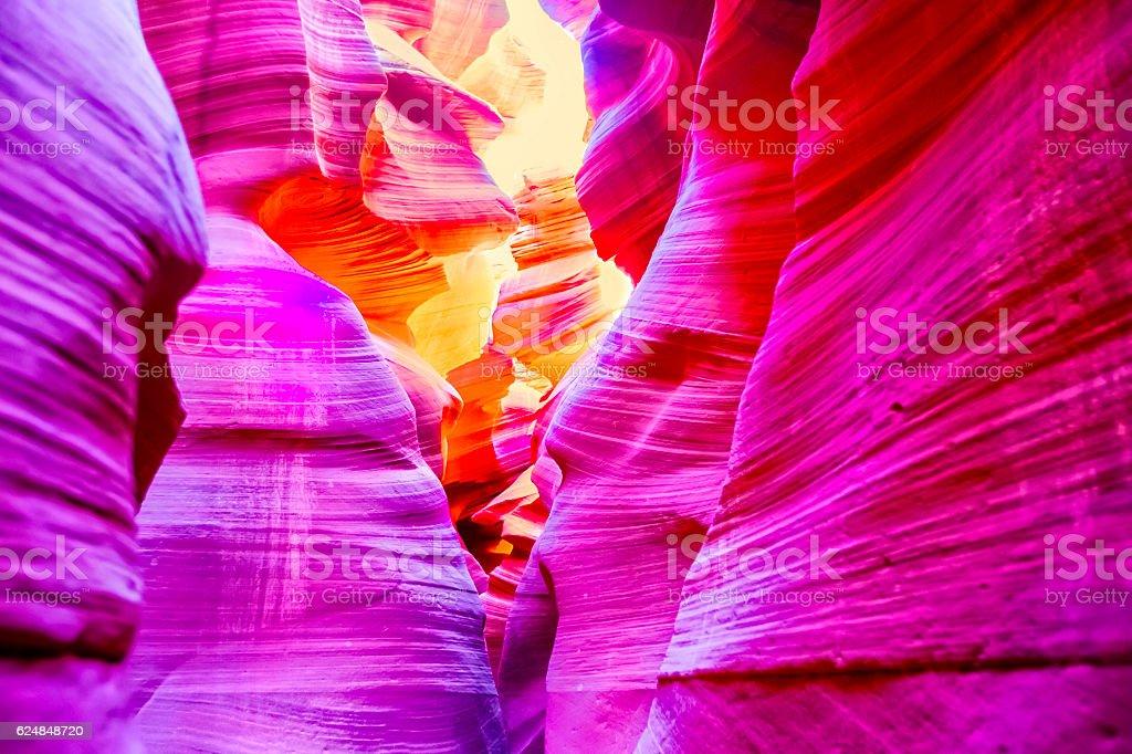 Antelope Canyon, Page Arizona -Slot canyons stock photo