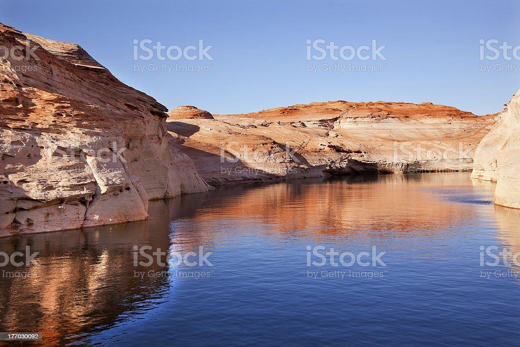 Antelope Canyon Reflection Lake Powell Arizona royalty-free stock photo