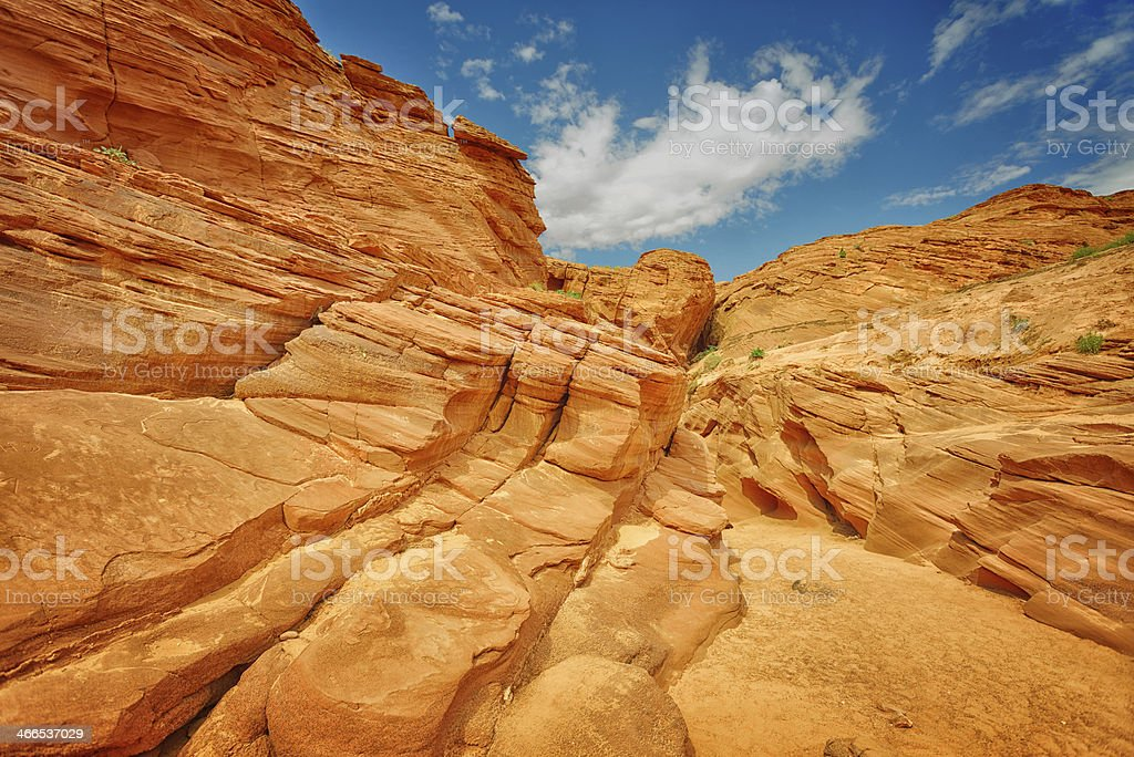 Antelope Canyon sandstone formation royalty-free stock photo