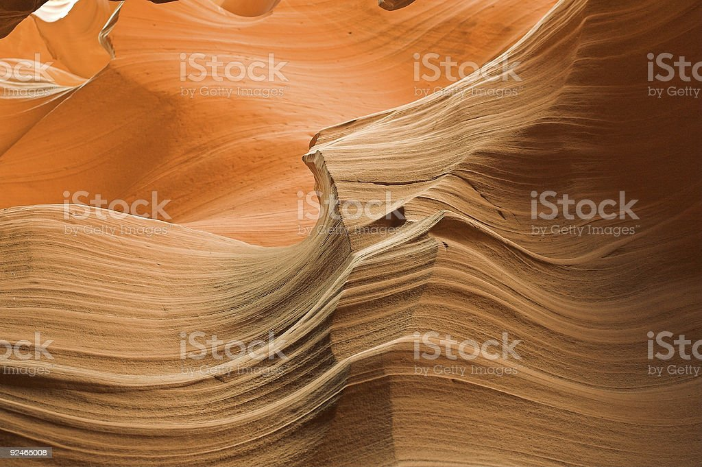 Antelope Canyon walls stock photo