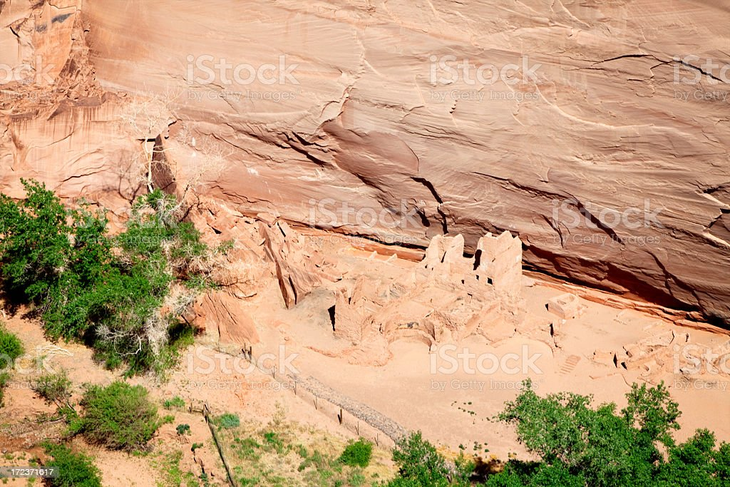 Antelope House Ruins - Canyon de Chelly National Monument stock photo