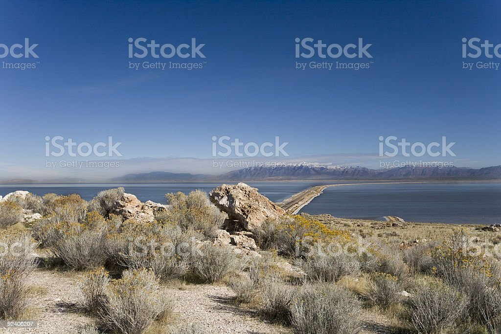 Antelope Island State Park in Utah stock photo
