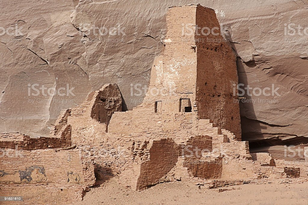 Antelope Ruins in Canyon de Celly royalty-free stock photo