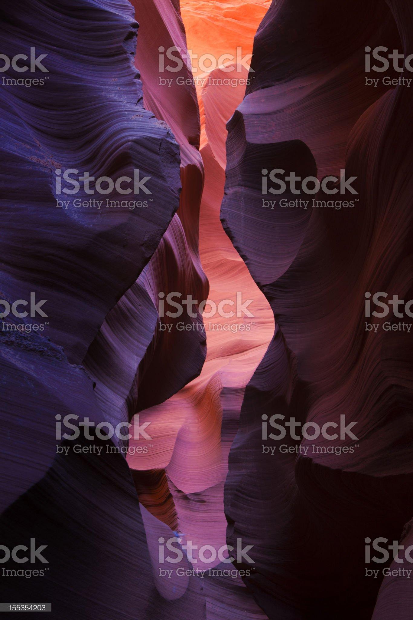 Antelope Slot Canyon colors royalty-free stock photo