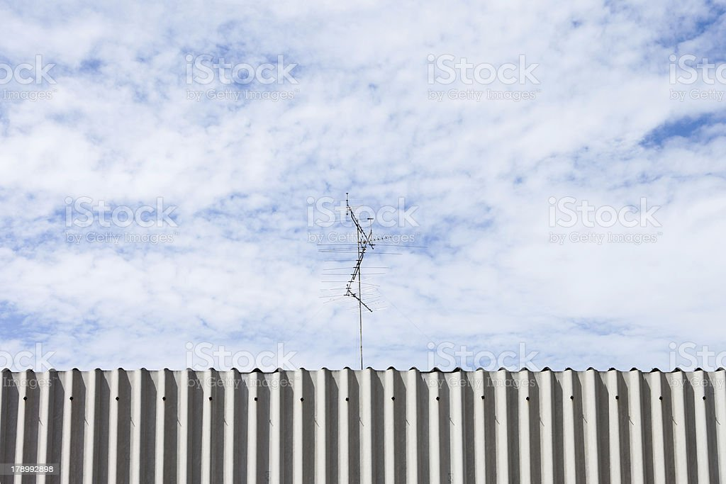 Antenna above the roof royalty-free stock photo
