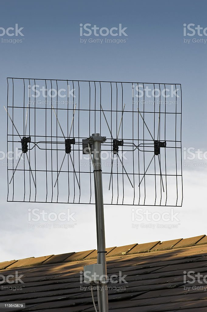 Antenna against the sky royalty-free stock photo