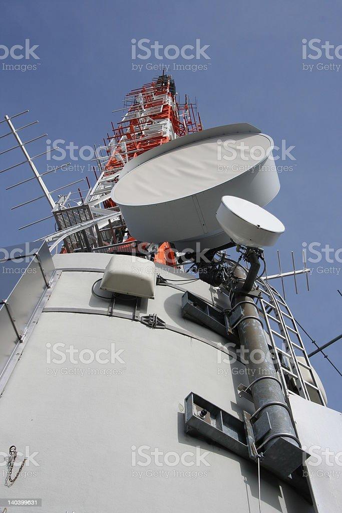 Antenna and communication royalty-free stock photo