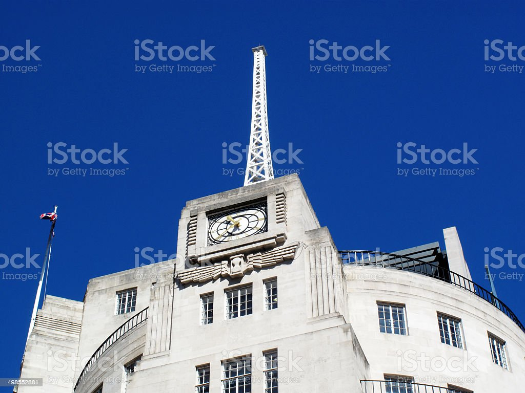 Antenna, BBC Broadcasting House stock photo