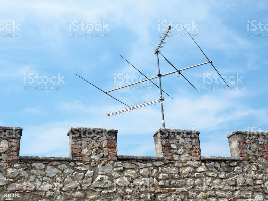 Antenna castle stock photo
