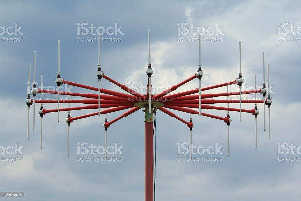 DF Antenna close-up stock photo