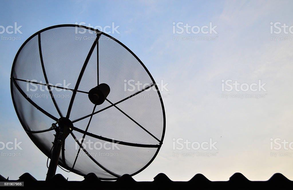 Antenna communication satellite dish stock photo