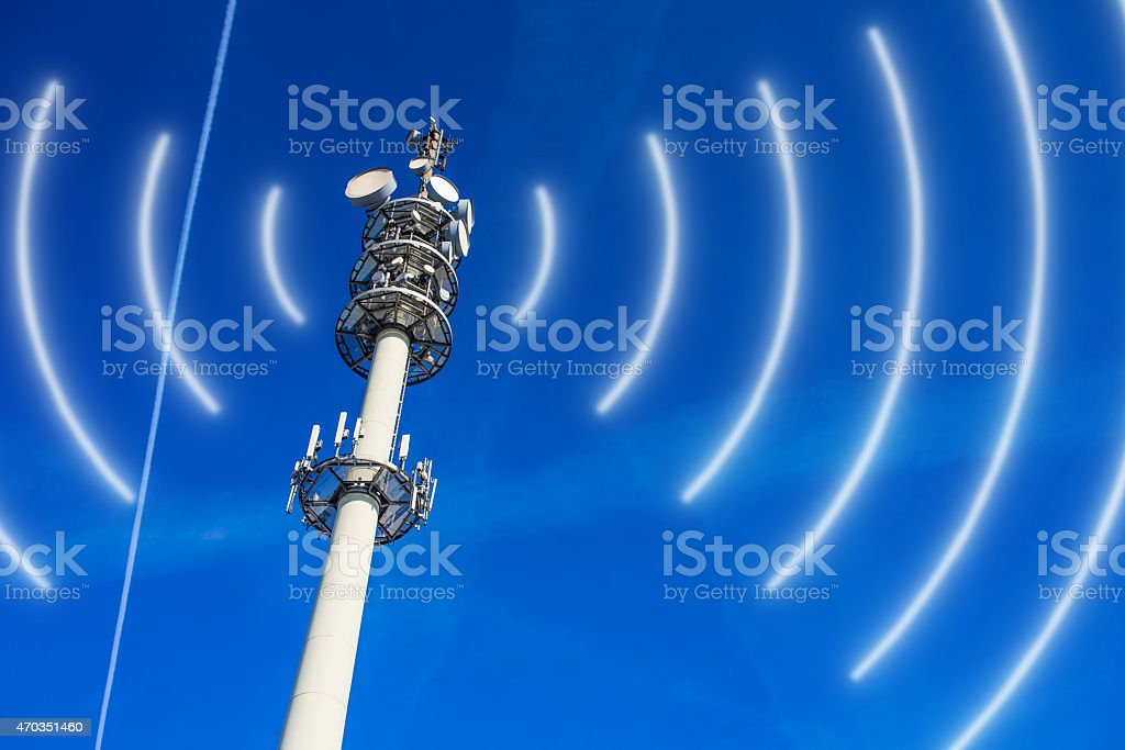 Antenna Mast stock photo