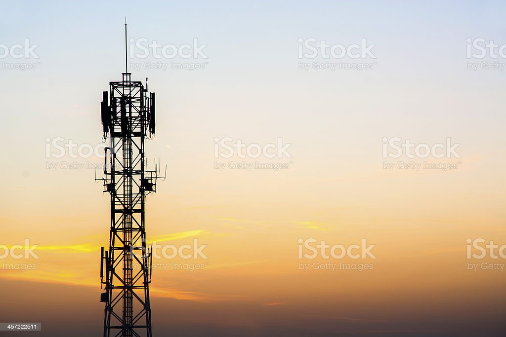 Antenna mobile Telecommunication stock photo