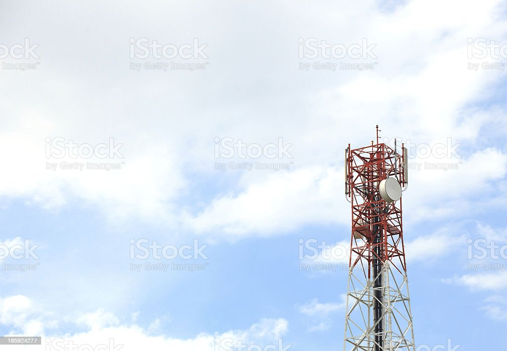 Antenna of Communication Building royalty-free stock photo