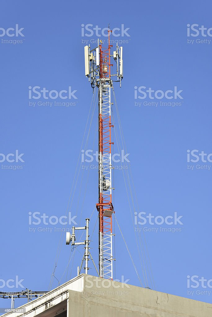 Antenna of radio communication royalty-free stock photo