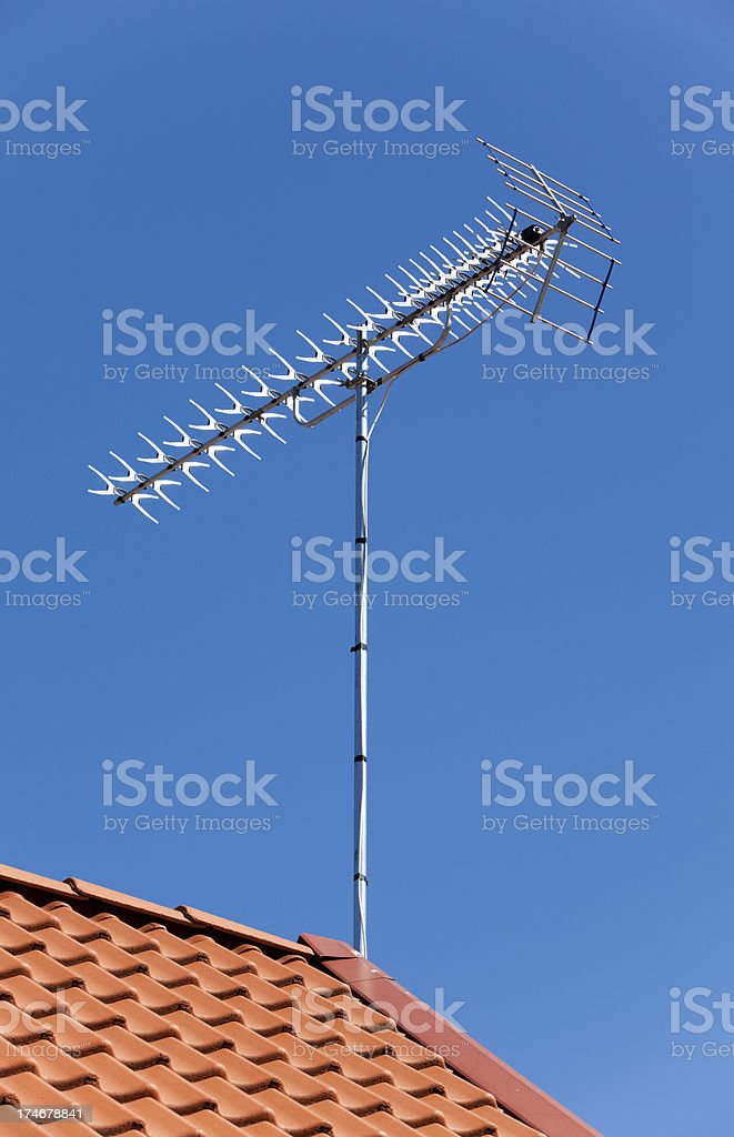 TV antenna royalty-free stock photo