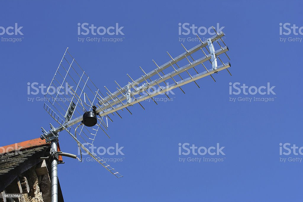 TV antenna royalty-free stock photo