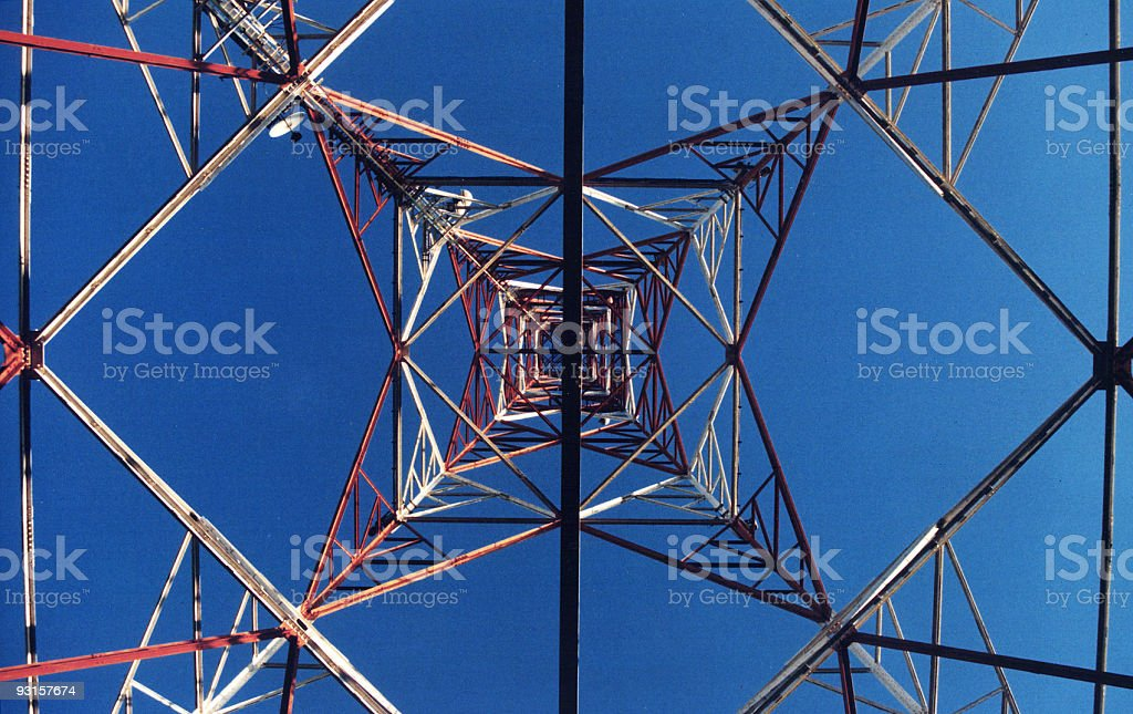 TV Antenna - Steel structure royalty-free stock photo