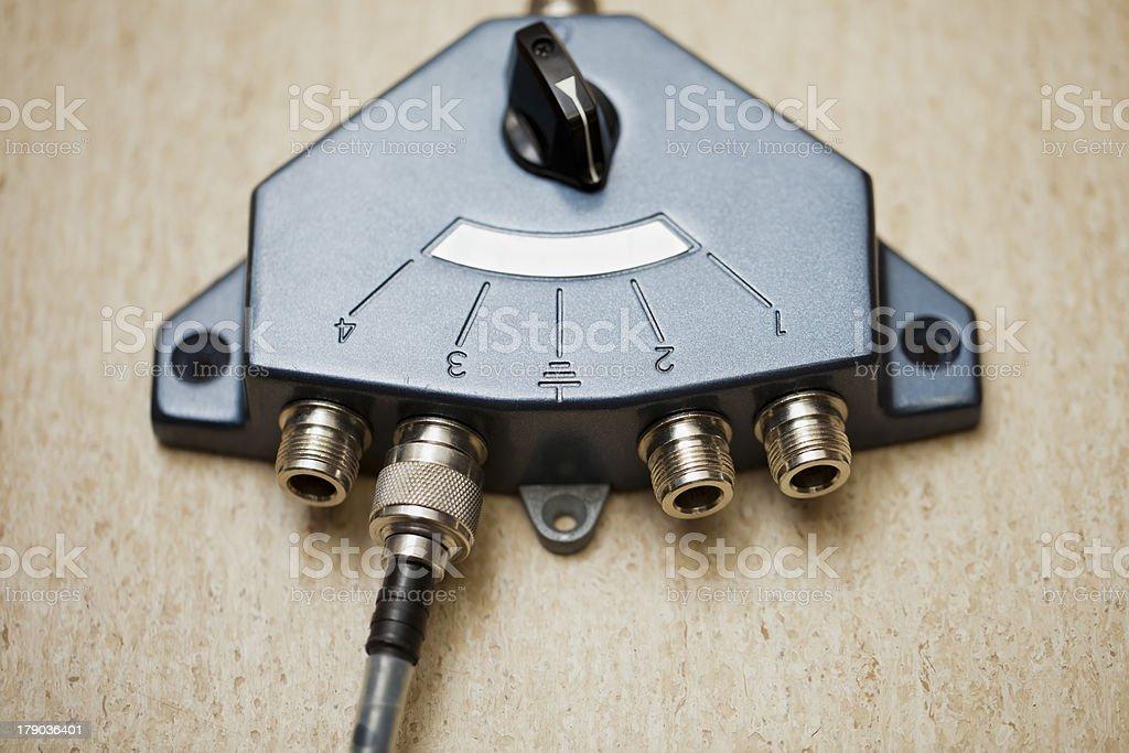 Antenna switch royalty-free stock photo