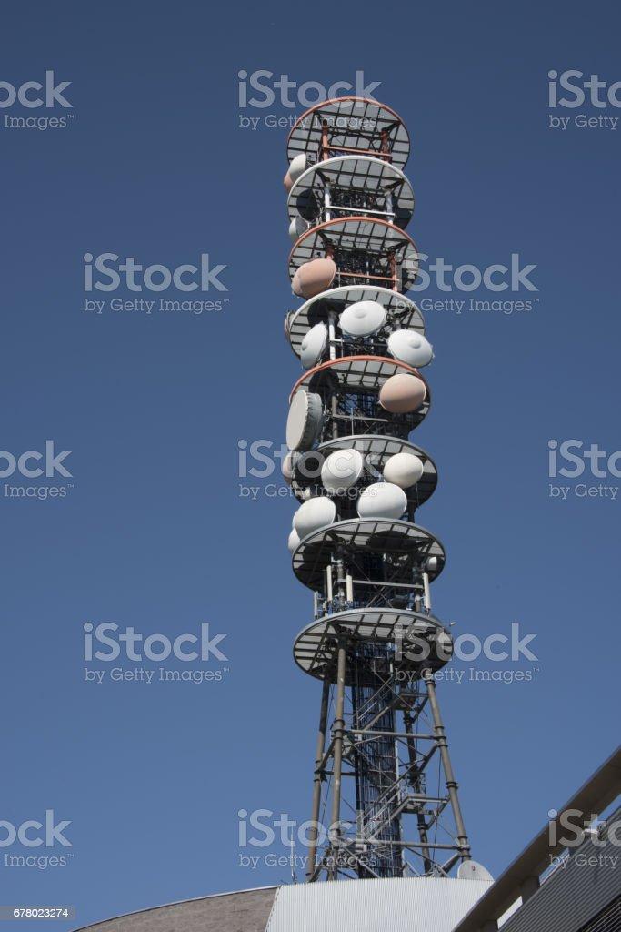 antenna televisiva stock photo