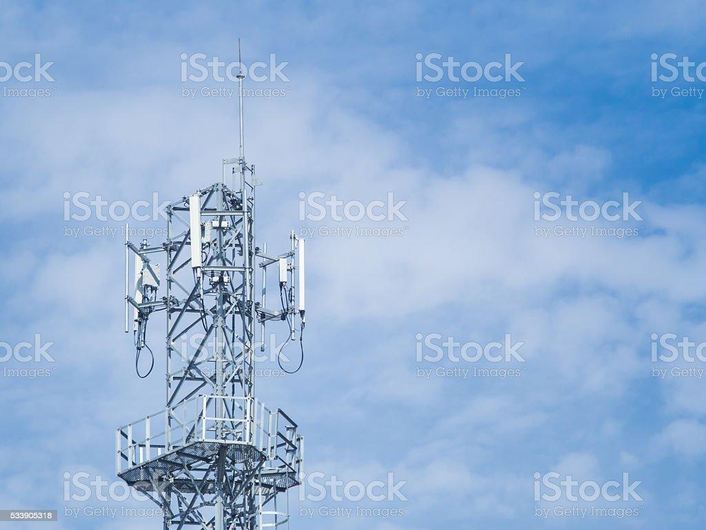Antenna tower tip stock photo