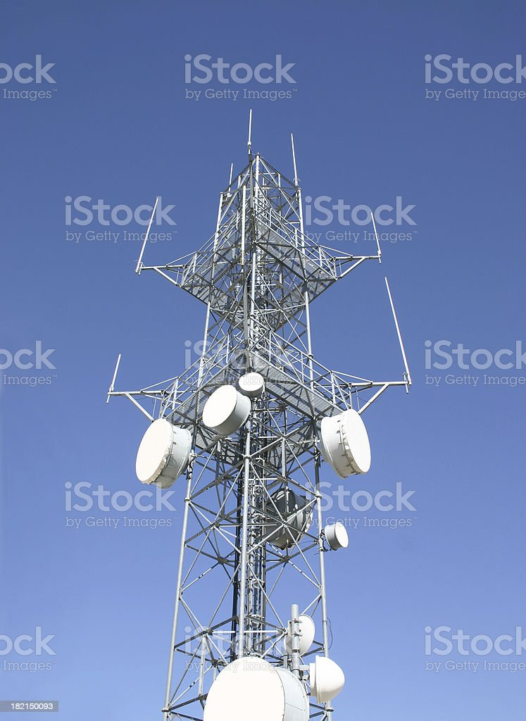 Antenna with blue sky royalty-free stock photo