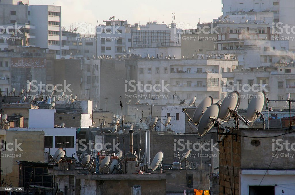 TV antennas everywhere royalty-free stock photo