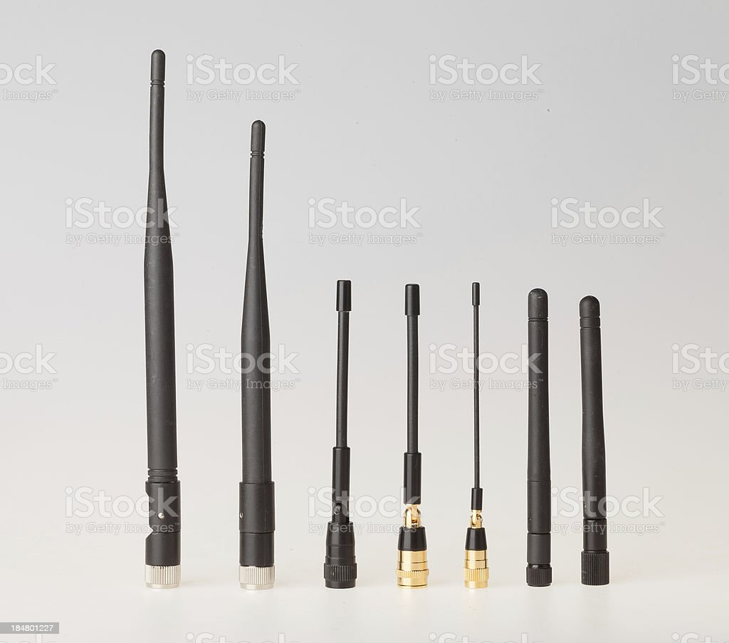 Antennas for different frequency stock photo