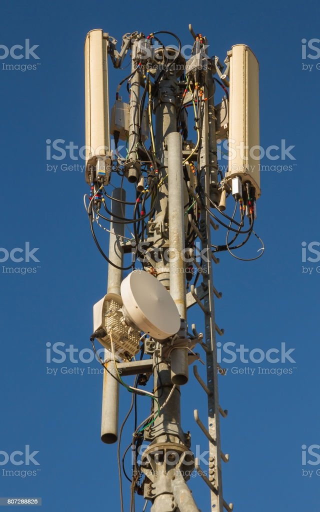 Antennas Mobile Phones - Antenas de Telefonia Móvil stock photo