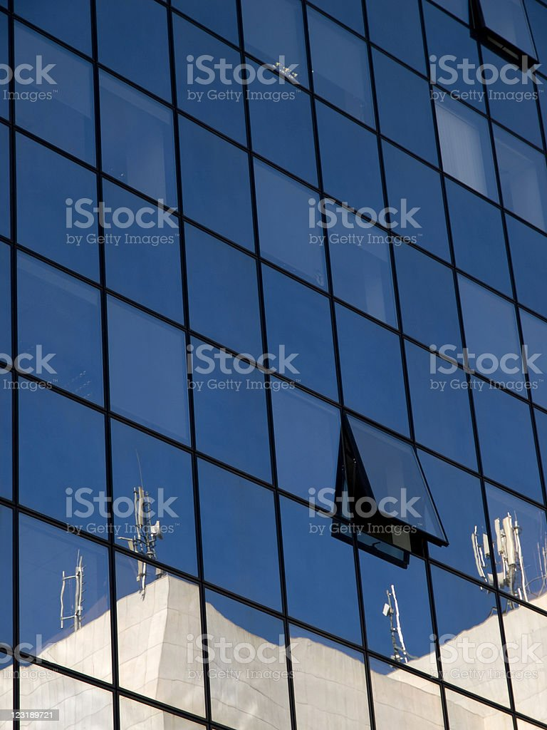 Antennas on office building royalty-free stock photo