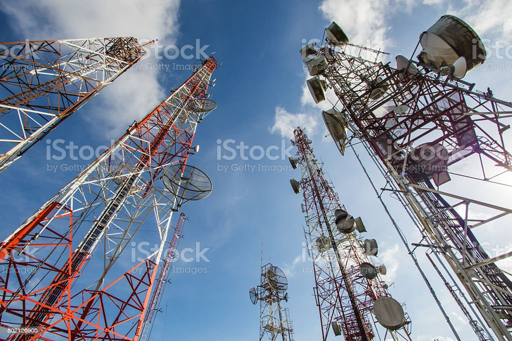 antennas stock photo