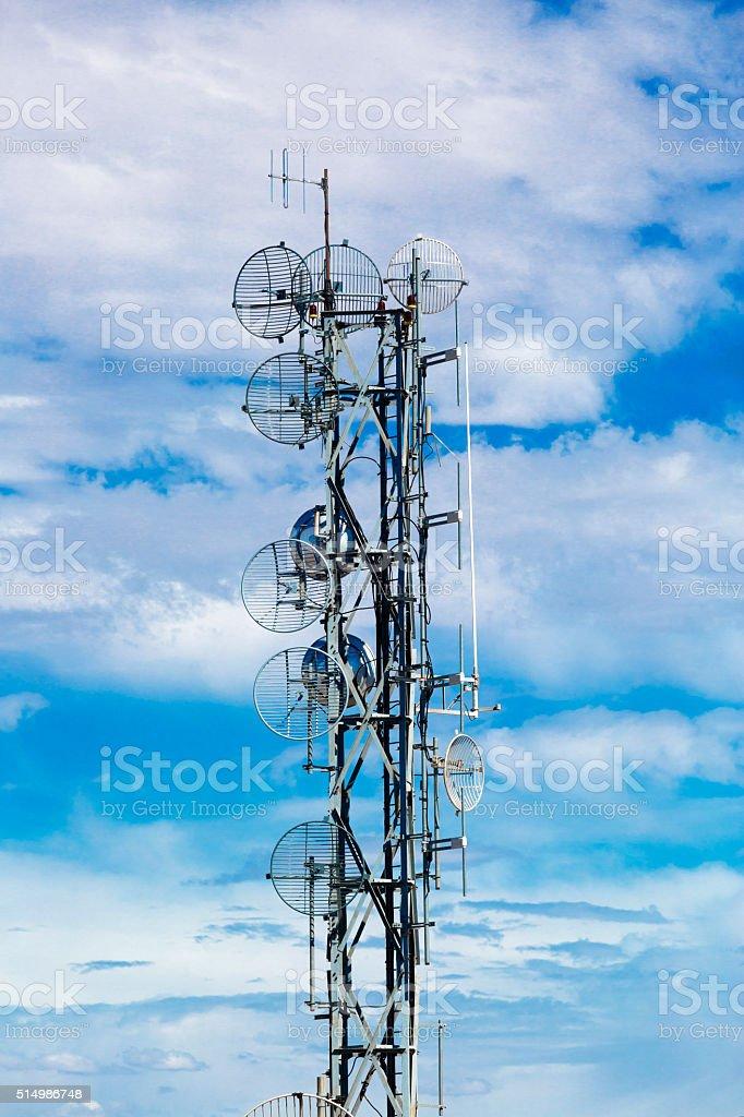 Antennas stock photo