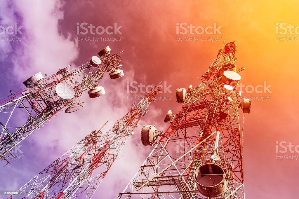 TV antennas. stock photo