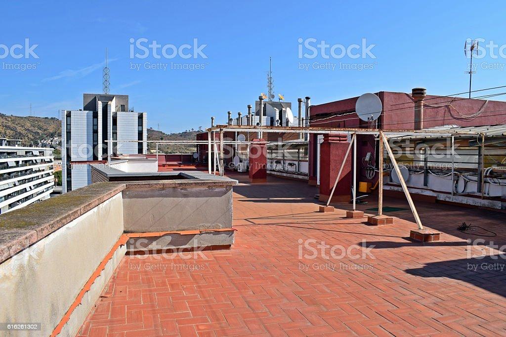 antenas, tejados, azoteas, terrados, parabolicas, techos, cubiertas edificios, instalaciones, vistas, stock photo