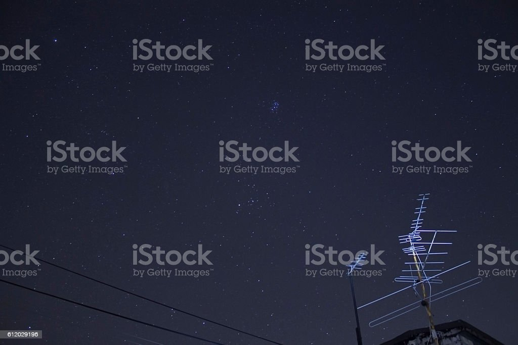 antenne on a space stock photo