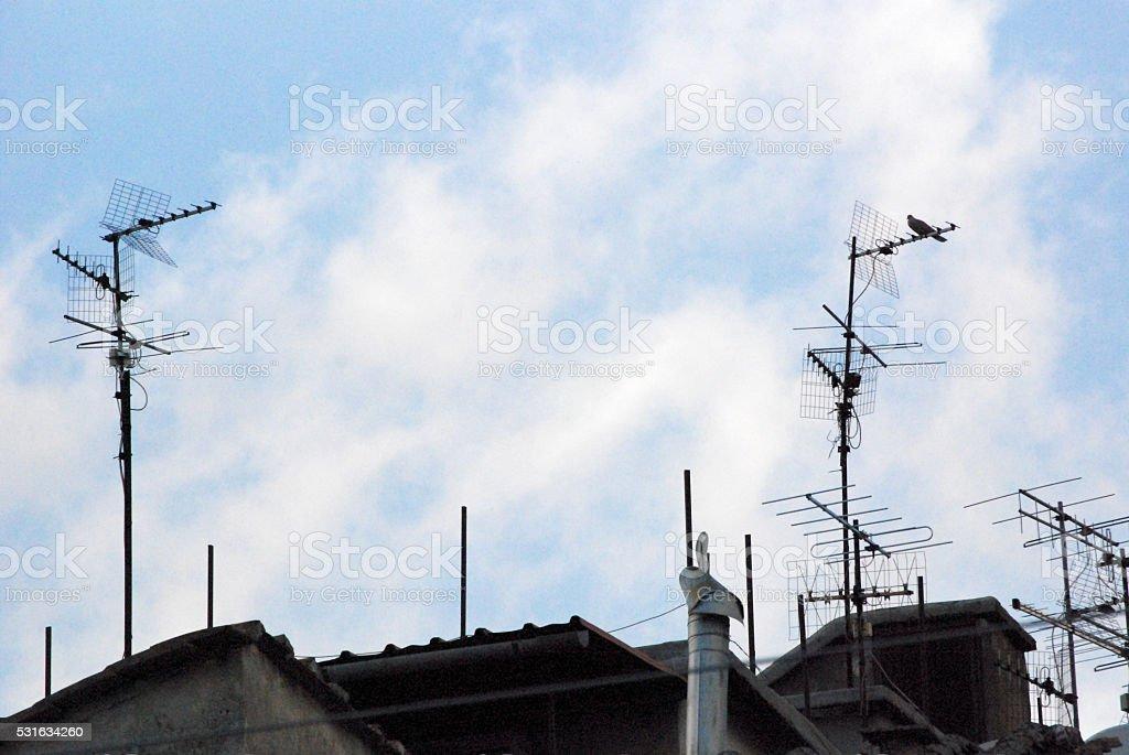 Antenne televisive stock photo