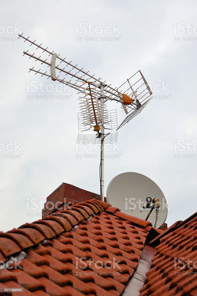 Antennen stock photo