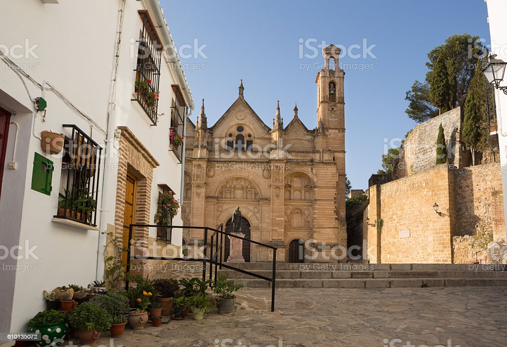 Antequera in Andalusia, Spain. Church Santa Maria la Mayor stock photo
